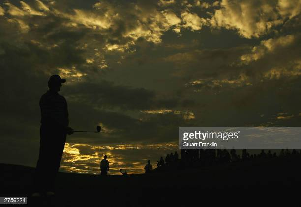 Ernie Els of South Africa during his play off match with Tiger Woods of USA at The Presidents Cup between USA and The Internatioanl team on the...