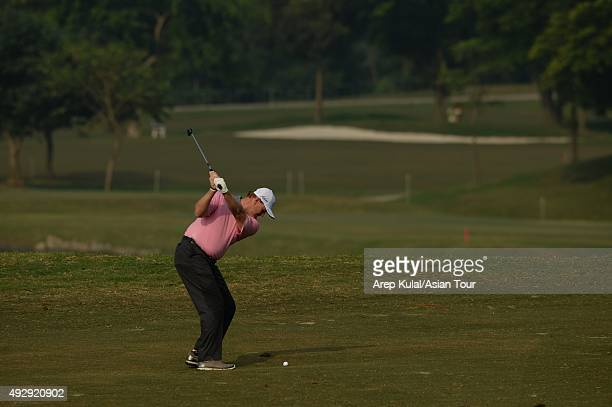 Ernie Els of South Africa during round two of the Venetian Macao Open at Macau Golf and Country Club on October 16 2015 in Macau Macau