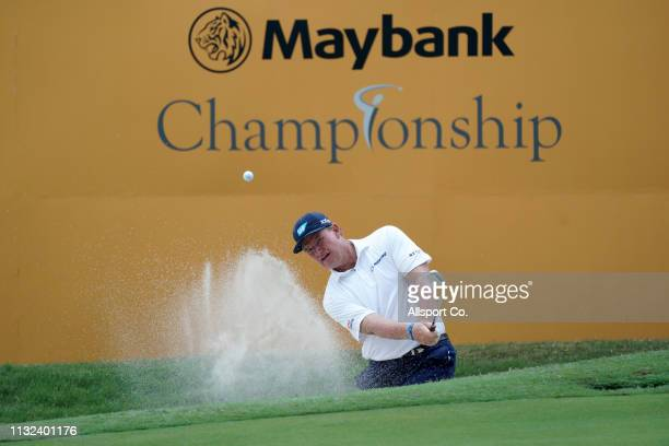 Ernie Els of South Africa in action during Day Three of the Maybank Championship at Saujana Golf and Country Club on March 24 2019 in Kuala Lumpur...