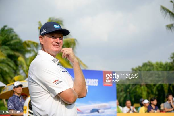 Ernie Els of South Africa in action during Day Two of the Maybank Championship at Saujana Golf and Country Club on March 22 2019 in Kuala Lumpur...