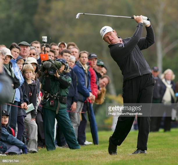 Ernie Els of South Africa in action during the HSBC World Match Play Championship at Wentworth Golf Club in Virginia Water Surrey on the 17th October...