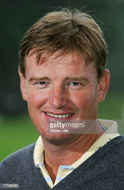 Ernie Els of South Africa looks on prior to the HSBC World Matchplay Championship at The Wentworth Club on October 9 2007 in Virginia Water England