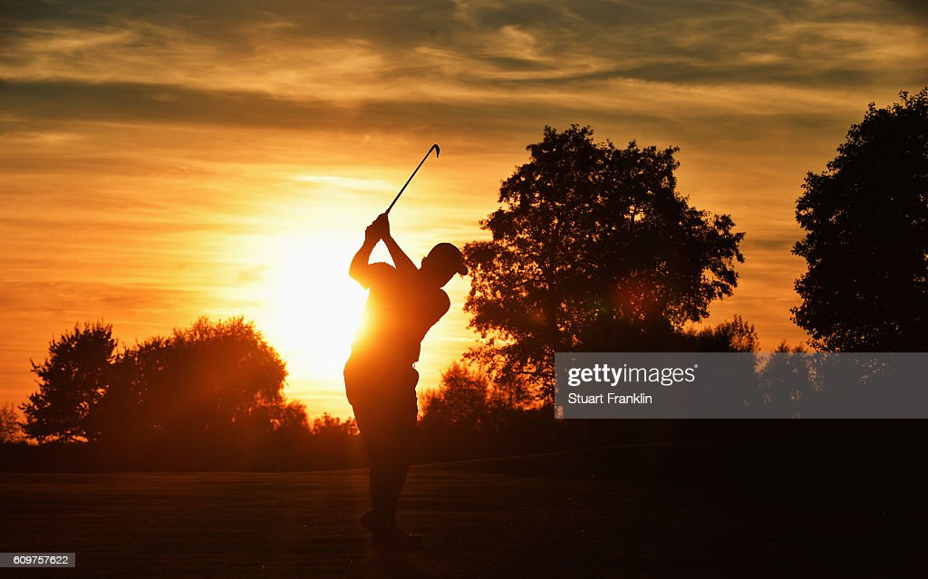 Ernie Els of South Africa plays a shot during the first round of the Porsche European Open at Golf Resort Bad Griesbach on September 22, 2016 in Passau, Germany.
