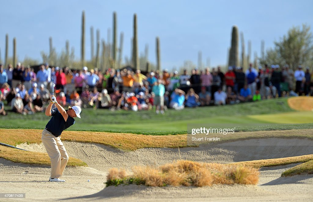 Ernie Els of South Africa plays a shot on the 17th hole during the second round of the World Golf Championships - Accenture Match Play Championship at The Golf Club at Dove Mountain on February 20, 2014 in Marana, Arizona.