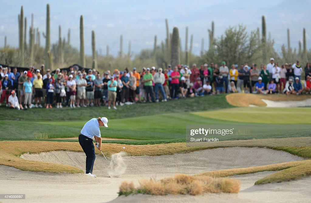 Ernie Els of South Africa plays a shot on the 17th hole during the third round of the World Golf Championships - Accenture Match Play Championship at The Golf Club at Dove Mountain on February 21, 2014 in Marana, Arizona.