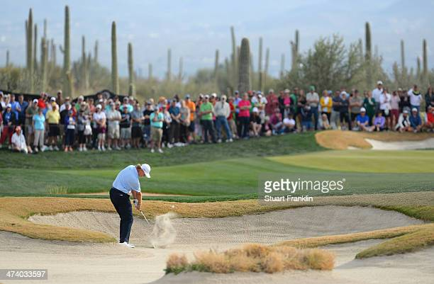 Ernie Els of South Africa plays a shot on the 17th hole during the third round of the World Golf Championships Accenture Match Play Championship at...