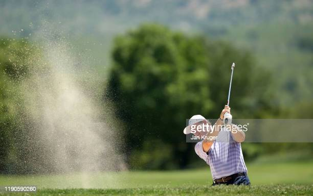 Ernie Els of South Africa plays his second shot on the 3rd hole during Day One of the Alfred Dunhill Championship at Leopard Creek Country Golf Club...