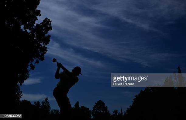 Ernie Els of South Africa tees off during day one of the South African Open at Randpark Golf Club on December 6 2018 in Johannesburg South Africa