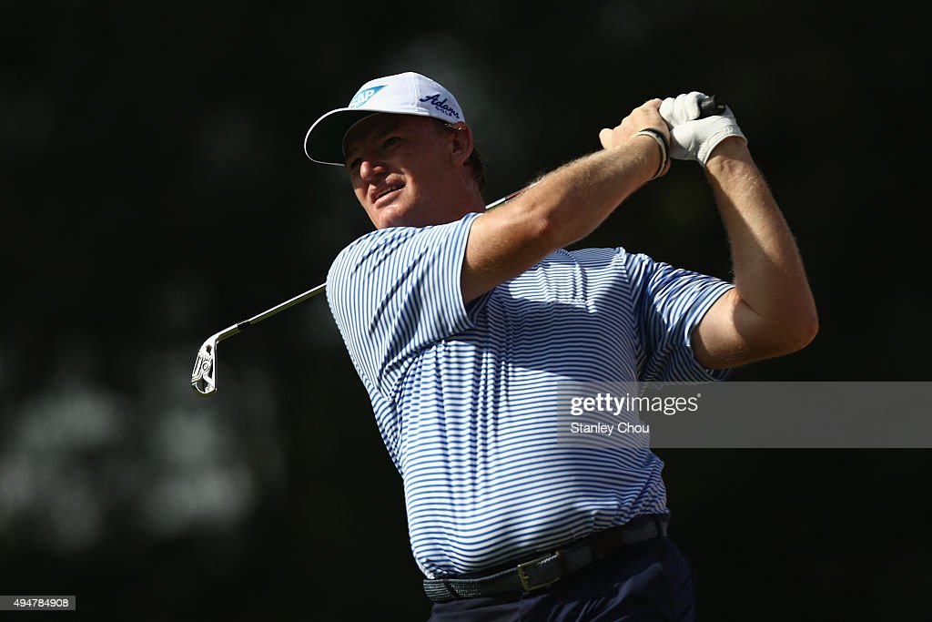 Ernie Els of South Africa tees off on the 14th hole during round one of the CIMB Classic at Kuala Lumpur Golf & Country Club on October 29, 2015 in Kuala Lumpur, Malaysia.