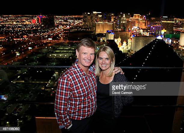 Ernie Els of South Africa with his wife Liezl Els during the 2015 Els For Autism Golf Challenge Grand Finale Welcome Party at the Skyfall Rooftop...