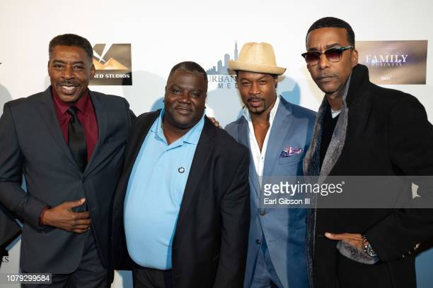Ernie Hudson Carl Weber Darrin Dewitt Henson and Miguel A Nunez Jr attend BET's The Family Business Special Screening at Ahrya Fine Arts Theater on...