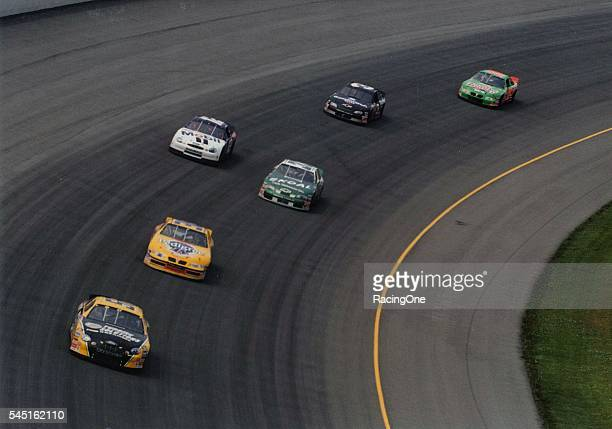 Ernie Irvan driver of the Pedigree Pontiac to an eighthplace finish on the fast wide 2mile Michigan International Speedway oval in the Kmart 400 on...