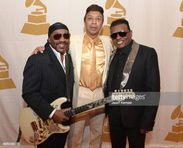 Ernie Isley and Ronald Isley attend the Special Merit Awards Ceremony as part of the 56th GRAMMY Awards on January 25 2014 in Los Angeles California