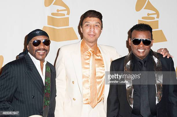 Ernie Isley Chris Jasper and Ronald Isley of the Isley Brothers attend the GRAMMY Foundation's Special Merit Awards ceremony at The Wilshire Ebell...
