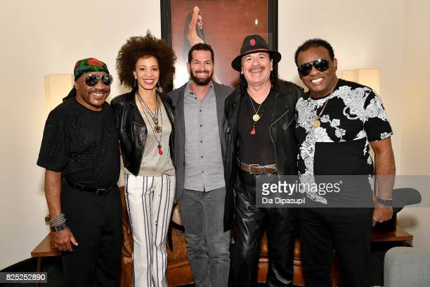 Ernie Isley Cindy Blackman Santana Sony Music Entertainment Legacy Recordings president Adam Block Carlos Santana and Ronald Isley attend the Santana...