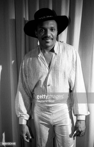 Ernie Isley from Isley Jasper Isley poses for photos at the Hyatt Regency Hotel in Chicago Illinois in January 1986