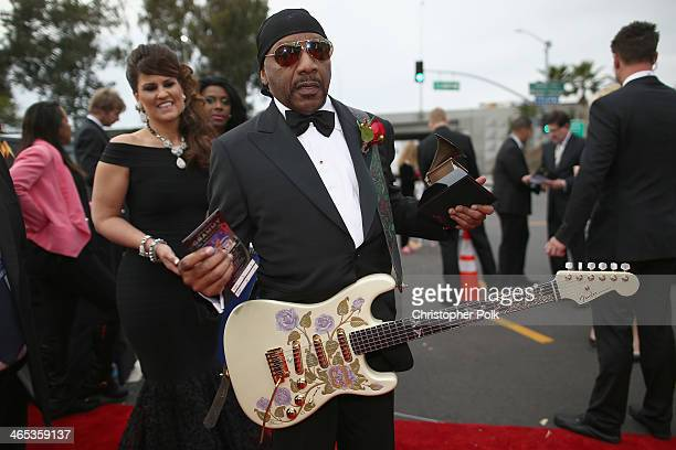 Ernie Isley of the Isley Brothers attends the 56th GRAMMY Awards at Staples Center on January 26 2014 in Los Angeles California