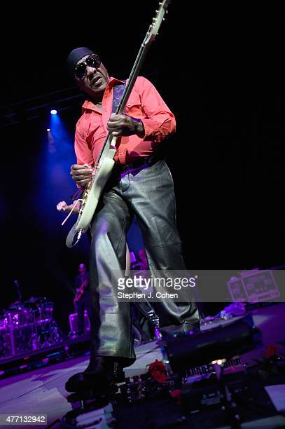 Ernie Isley of The Isley Brothers performs at KFC YUM! Center on June 13, 2015 in Louisville, Kentucky.