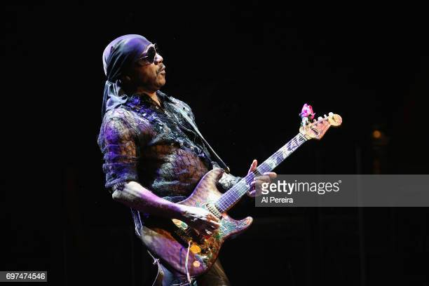 Ernie Isley of the Isley Brothers performs in concert at Brooklyn's Kings Theatre on June 18 2017 in New York City
