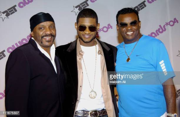 Ernie Isley of the Isley Brothers Usher and Ronald Isley of the Isley Brothers