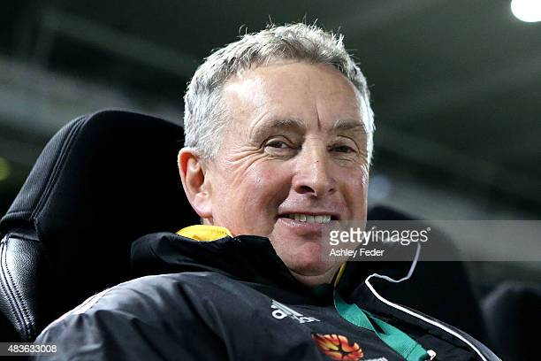 Ernie Merrick coach of the Phoenix looks on before the FFA Cup match between Central Coast Mariners and Wellington Phoenix at Central Coast Stadium...