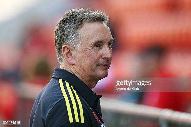 Ernie Merrick of Wellington Phoenix looks on during the round 12 ALeague match between Adelaide United and the Wellington Phoenix at Coopers Stadium...