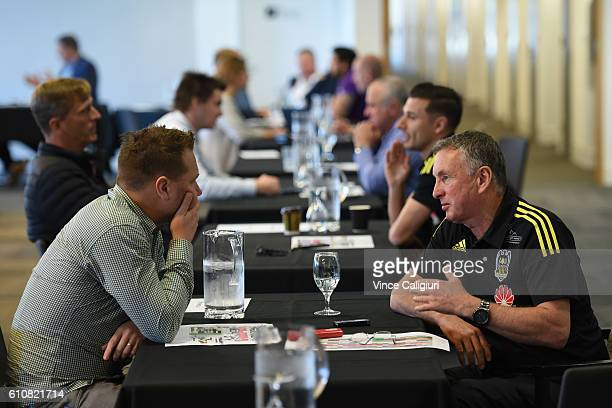 Ernie Merrick Wellington Phoenix coach is seen during the 206/17 ALeague media day at AAMI Park on September 28 2016 in Melbourne Australia