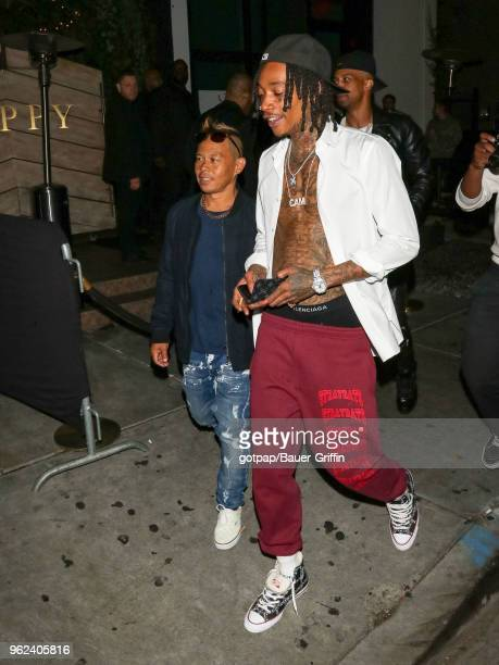 Ernie Reyes Jr and Wiz Khalifa are seen on May 25 2018 in Los Angeles California