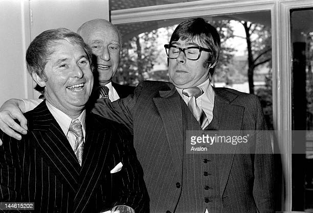 Ernie Wise Edward Heath and Mike Yarwood photographed at function in November 1973