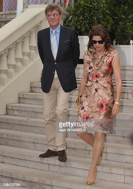 Ernst August of Hanover and Princess Caroline of Hanover in Monte Carlo Monaco on May 09 2009
