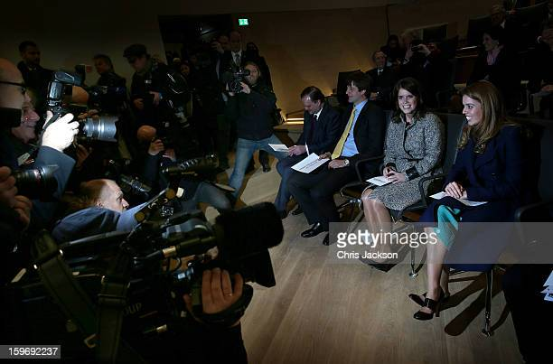 Ernst August of Hanover Princess Beatrice and Princess Eugenie are photographed and filmed at the Opening Ceremony of Palace Herrenhausen on January...
