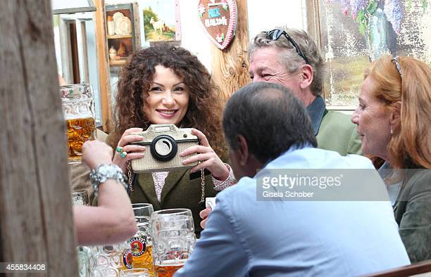 Ernst August von Hannover and Simona during the Oktoberfest Opening in Kaeferzelt at Theresienwiese on September 20 2014 in Munich Germany