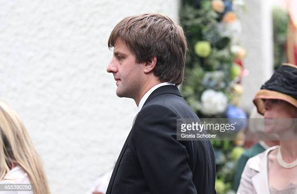 Ernst August von Hannover jr attends the wedding of Maria Theresia Princess von Thurn und Taxis and Hugo Wilson at St Joseph Church in Tutzing on...