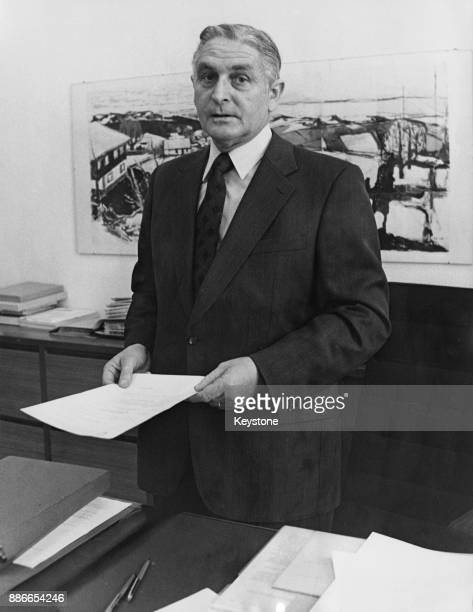 Ernst Brugger the Swiss Minister of Economy after his election as President of the Swiss Confederation Switzerland 5th December 1973
