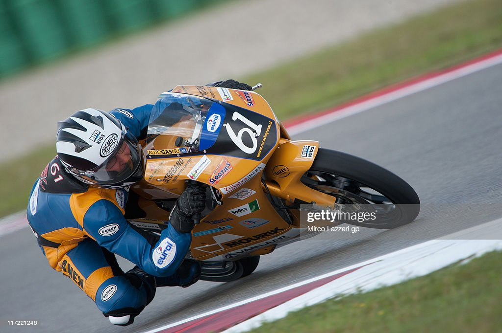 Ernst Dubbink of Netherlands and RV Racing Team rounds the bend during the qualifying practice of MotoGP of Netherlands at TT Circuit Assen on June 24, 2011 in Assen, Netherlands.
