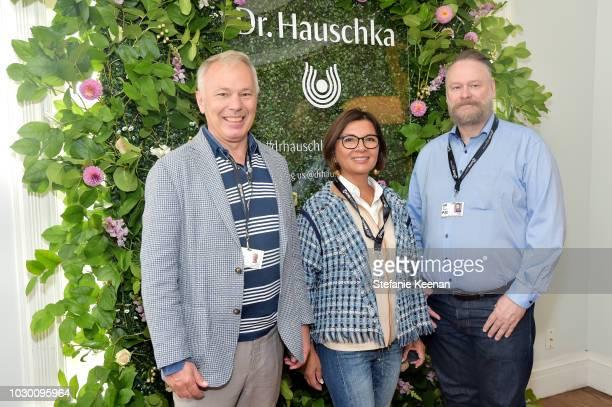 Ernst Fassbender Maria Fassbender and Johan Fomas attend German Films X Dr Hauschka Reception at the 43rd Toronto International Film Festival on...