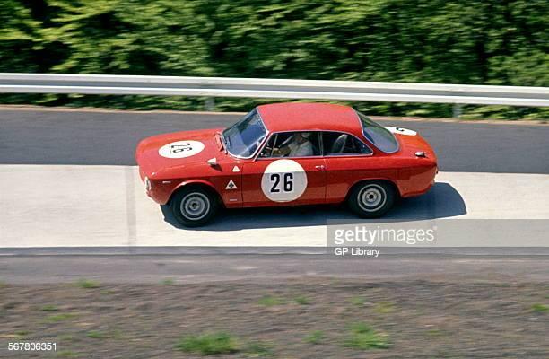 Ernst FurtmayrHerbert Schultze's Alfa Romeo Giulia Sprint in the Karussel corner in the Nurburgring 1000kms race Germany 23 May 1965