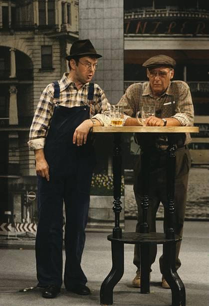 Ernst Hilbich, Walter Gross (v.l.n.r.), ARD-Kabarett-Show \'Schla ...