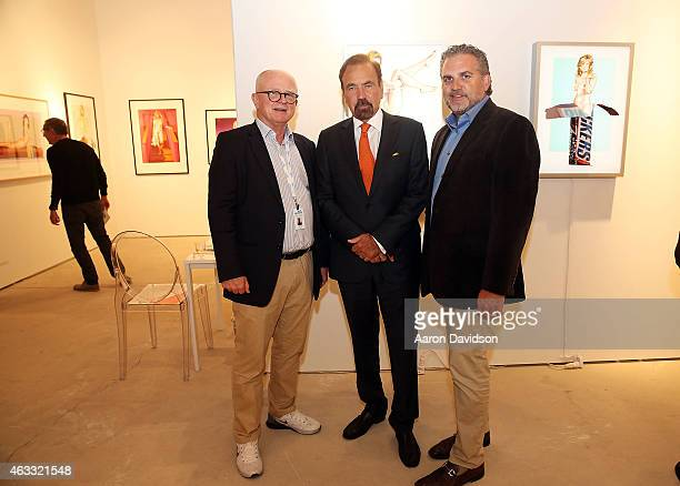 Ernst Hilger Jorge Perez and Nick Korniloff attend Art Wynwood VIP Preview at Art Wynwood Pavilion on February 12 2015 in Miami Florida