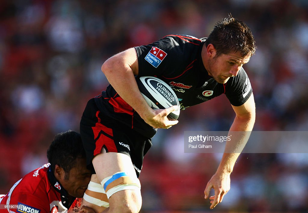Ernst Joubert Of Saracens In Action During The Guinness