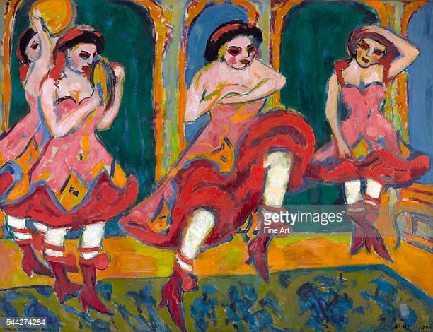 Ernst Ludwig Kirchner Czardas Dancers oil on canvas 1722 x 2232 cm Gemeentemuseum Den Haag The Hague Netherlands