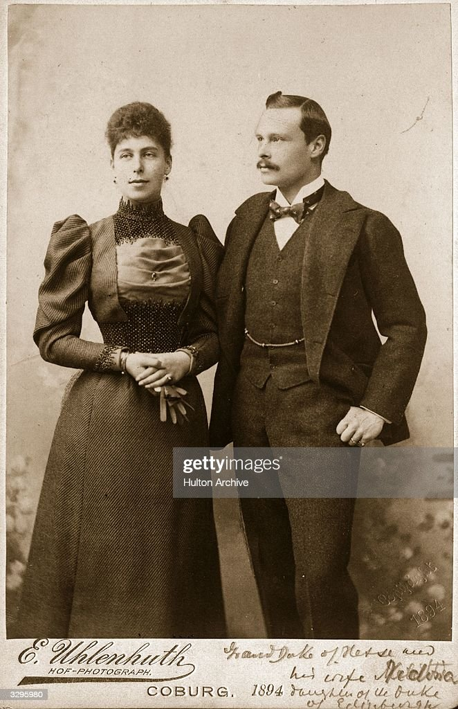 Ernst Ludwig of Hesse-Darmstadt (1868 - 1937), Grand Duke of Hesse, son of Ludwig IV with his wife.