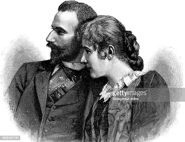 Ernst prince of saxemeiningen 1859 1941 and his wife katharina baroness von saalfeld katharina jensen 1874 1945 historical illustration circa 1893