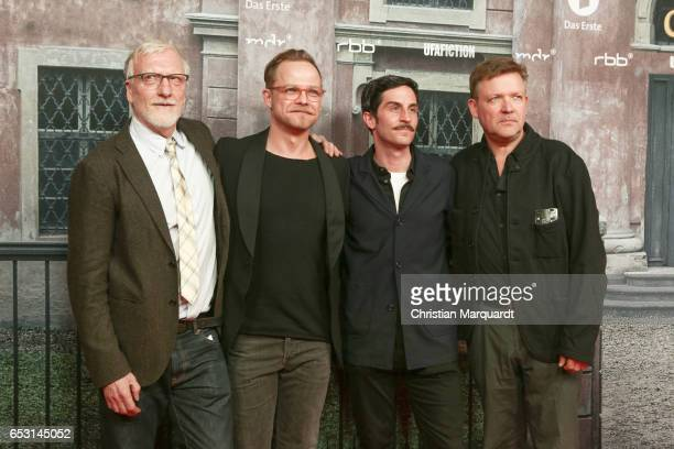 Ernst Stoetzer Matthias Koeberlin Christoph Bach and Justus von Dohnanyi the main cast of the movie attend the 'Charite' Berlin Premiere at...