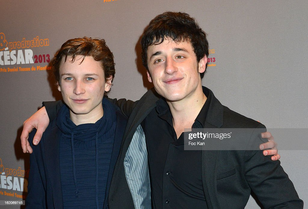 Ernst Umhauer and Bastien Ughetto attend the Producer's Dinner - Cesar Film Awards 2013 at Georges V on February 18, 2013 in Paris, France.