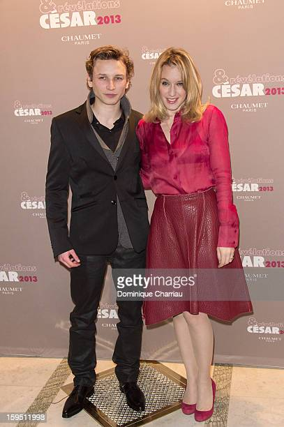 Ernst Umhauer and Ludivine Sagnier attend the 'Cesar's Revelations 2013' Dinner Arrivals at Le Meurice on January 14 2013 in Paris France