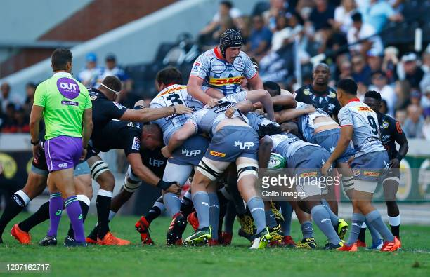 Ernst van Rhyn of the DHL Stormers during the Super Rugby match between Cell C Sharks and DHL Stormers at Jonsson Kings Park Stadium on March 14,...