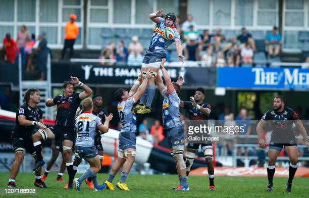 Ernst van Rhyn of the DHL Stormers during the Super Rugby match between Cell C Sharks and DHL Stormers at Jonsson Kings Park on March 14, 2020 in...