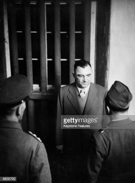 Ernst Weinmann former Gestapo chief in Belgrade Yugoslavia under guard after his capture