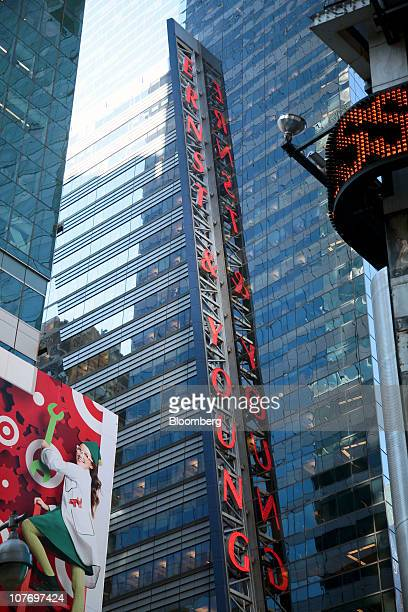 Ernst & Young LLP'S headquarters building stands in New York, U.S., on Monday, Dec. 20, 2010. Ernst & Young LLP may be sued for fraud as early as...
